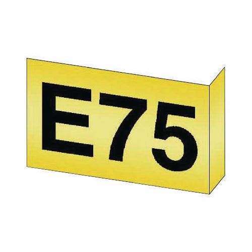 Aisle Marker 95x130mm 90 Deg Flange-Yellow