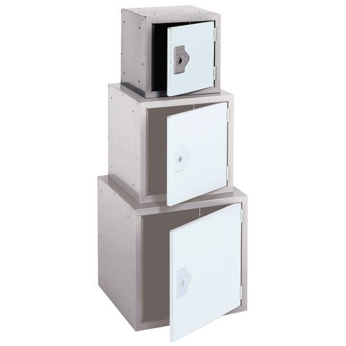 "Locker 12"" Sq Cube-2 Tone Grey 305x305x305-Plain"