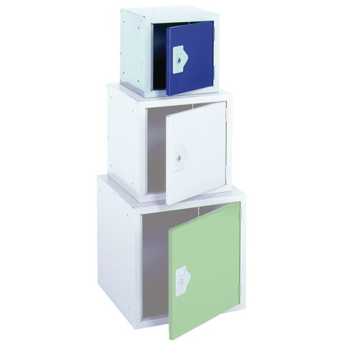 "Locker 12"" Sq Cube-Blue Door 305x305x305 Plain"