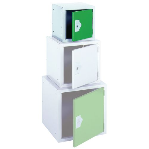 "Locker 12"" Sq Cube-Green Door 305x305x305 Plain"