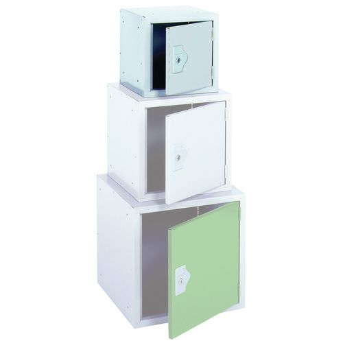 "Locker 12"" Sq Cube-Light Grey Door 305x305x305 Plain"