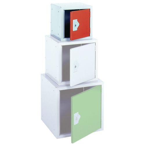 "Locker 12"" Sq Cube-Red Door 305x305x305 Plain"