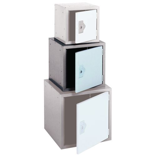 "Locker 15"" Sq Cube-2 Tone Grey 381x381x381 Plain"