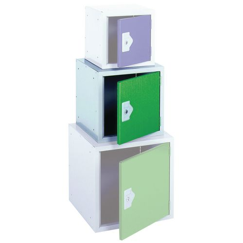 "Locker 15"" Sq Cube-Green Door 381x381x381 Plain"