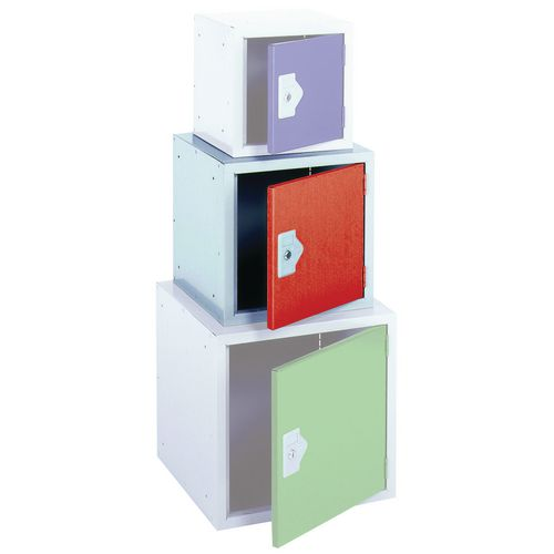 "Locker 15"" Sq Cube-Red Door 381x381x381 Plain"