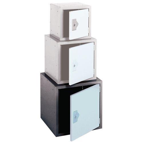 """Locker 18"""" Sq Cube 2 Tone Grey 457x457x457 Plain"""