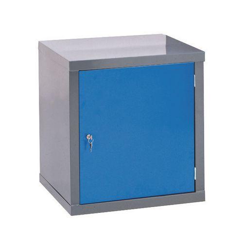 Locker-Heavy Duty Cube C/W Camlock/1 Cube Blue Door