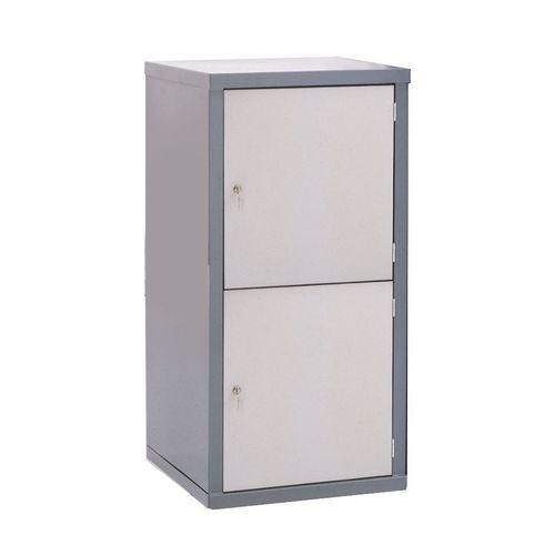 Locker-Heavy Duty Cube C/W Camlock/2 Cube Light Grey Door