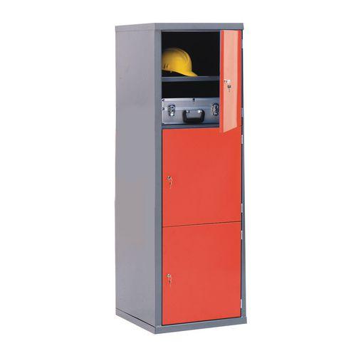 Locker-Heavy Duty Cube C/W Camlock-3 Cube Red Door