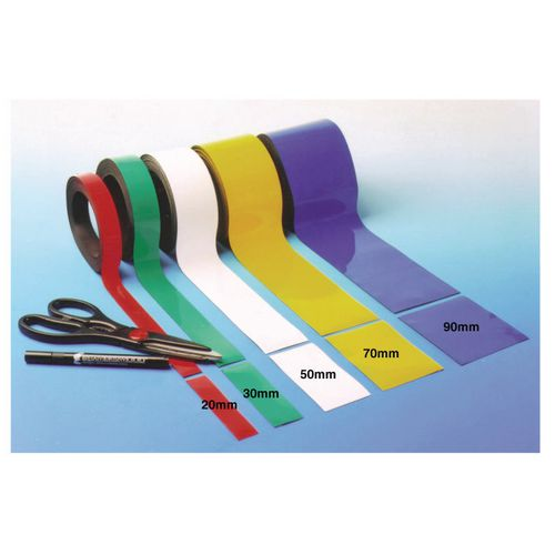 Magnetic Easy-Wipe Strip Width:90mm Length:10M Blue