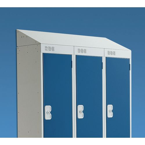 Coloured Door Locker with Sloping Top 397x450 2 Tone Grey Door