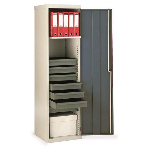 Cupboard Utilty D.Grey Doors With 1 Shelf + 7 Drawers