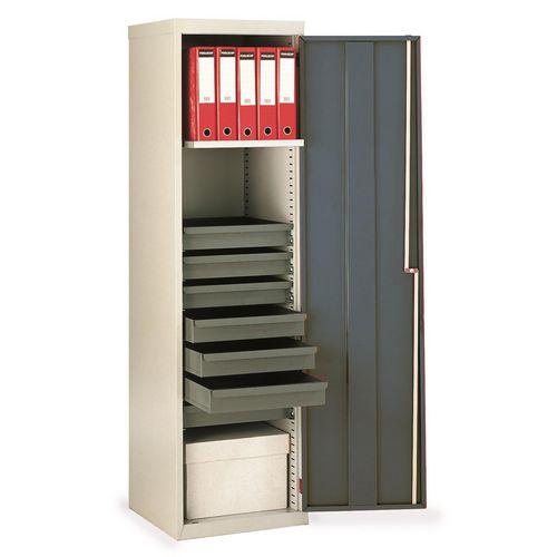 Cupboard Utilty Green Doors With 1 Shelf + 7 Drawers