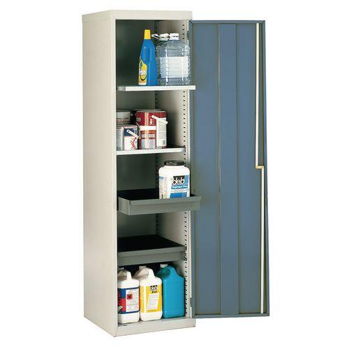 Cupboard Utilty D.Grey Doors With 2 Shelves + 2 Drawers