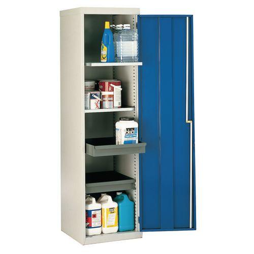 Cupboard Utilty Green Doors With 2 Shelves + 2 Drawers