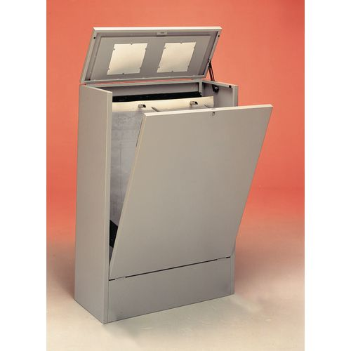 Cabinet A1 Vertical Planfile 4 Prong Standard Light Grey