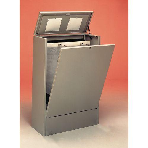 Cabinet A1 Vertical Planfile 2 Prong Anti-Tilt Dark Grey
