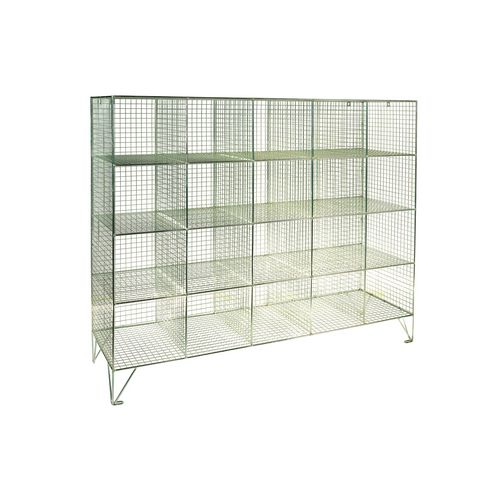 Wire Mesh Locker Personal Effect 20 Compartments No Doors D:450