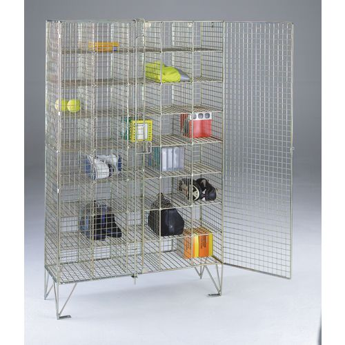 Wire Mesh Locker Multi 40 Compartment With Doors