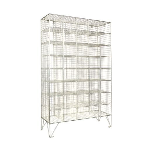 Wire Mesh Locker Multi 40 Compartment Without Doors