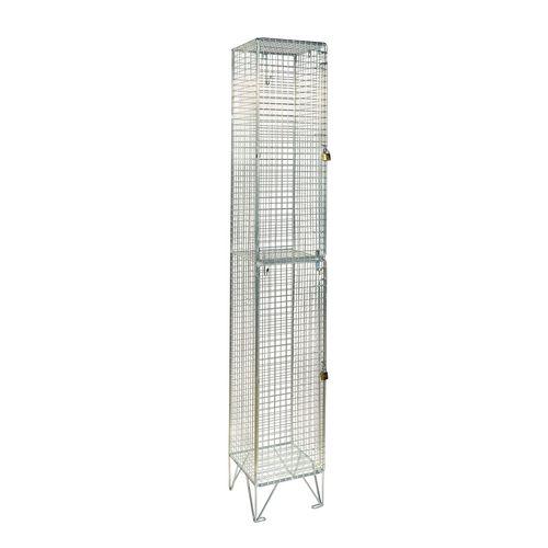 Wire Mesh Locker 2 Door Individual D:305mm