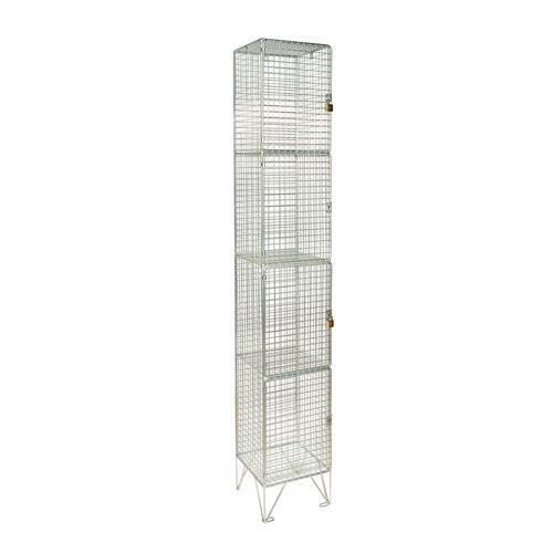 Wire Mesh Locker 4 Door Individual D:457mm