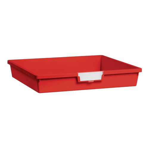 Tray  A3 Shallow Red 77x469x425mm-Pack Of 10
