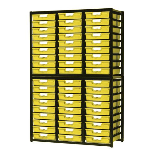 Tray Unit  54 Tray Static A4 Yellow 1038x435x1700mm