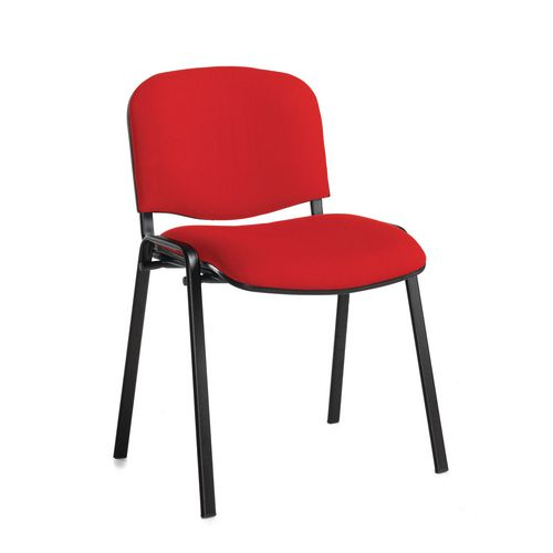 Chair Conference Stackable Blk Frame Red Pack Of 4