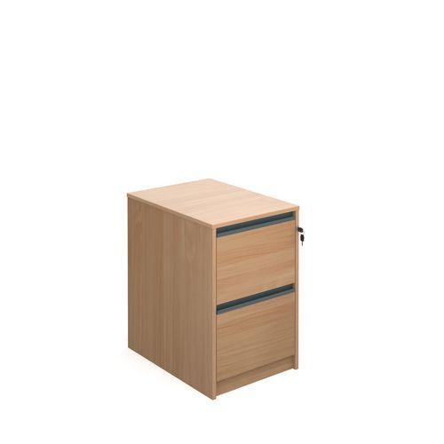 Desking Hxwxd725X480X650 Beech Filing Cabinet 2 Drawer Beech