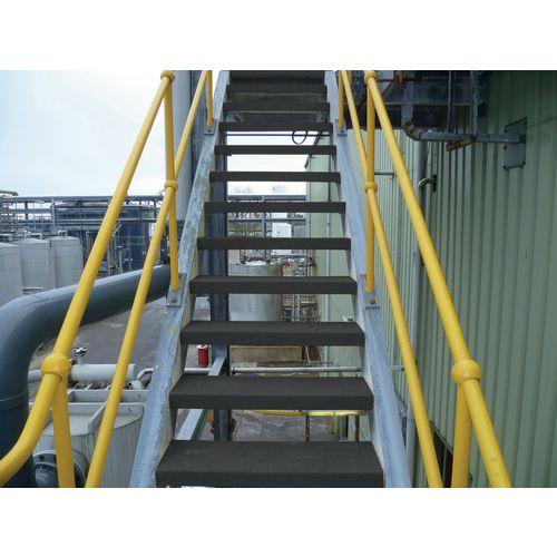Flooring Anti-Slip Treads Stair Tread 595X195X40mm Bk