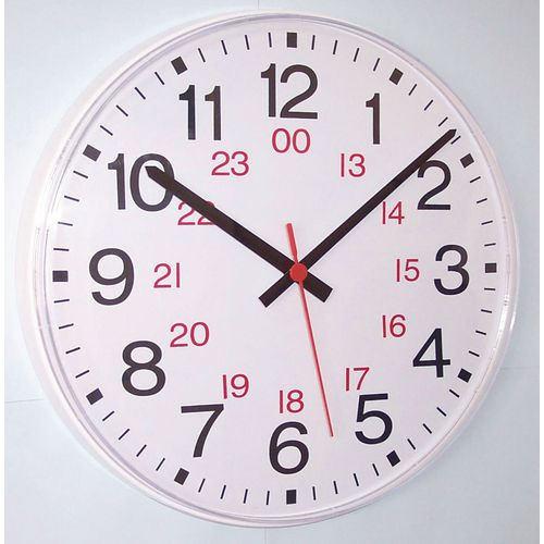 Clock 24 Hour Quartz Analogue