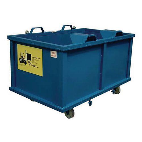 Container Automatic Dumping 1.5 Cu. M + Nylon Castors L1690mm
