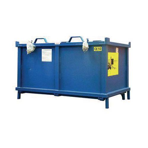 Container Automatic Dumping 1.5 Cu. M + Nylon Castors L2000mm