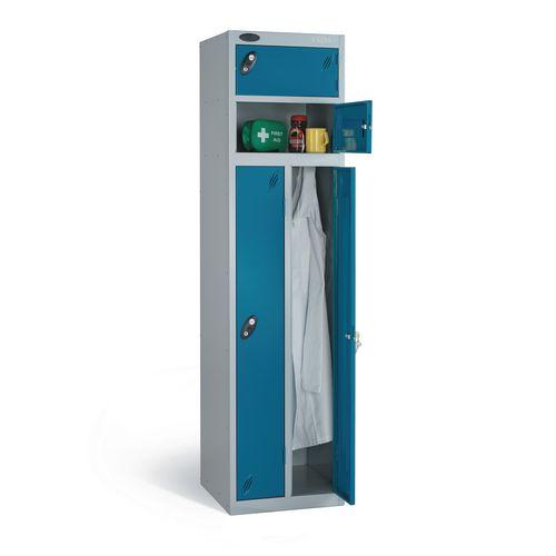 Locker Economy Range 2 Person Depth:460mm Silver &Blue