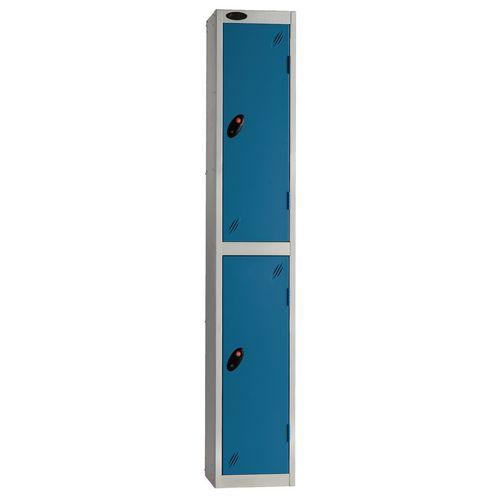 Locker Economy Range 2 Door Depth:305mm Silver &Blue