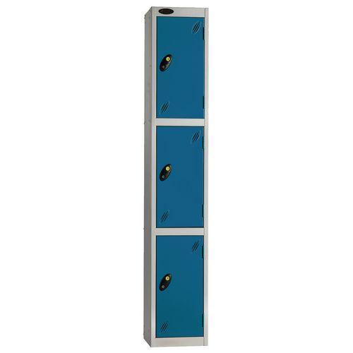 Locker Economy Range 3 Door Depth:460mm Silver &Blue