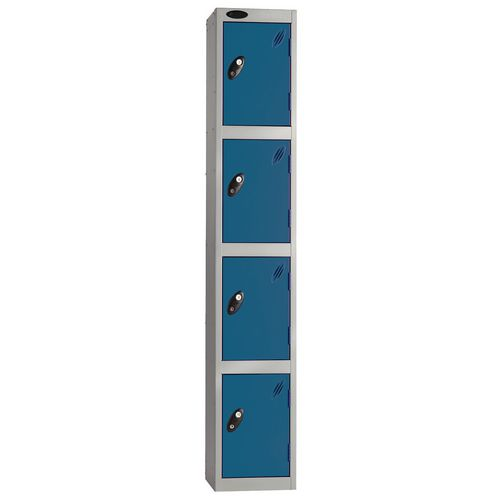 Economy Range Locker 4 Door Depth:305mm Silver &Blue
