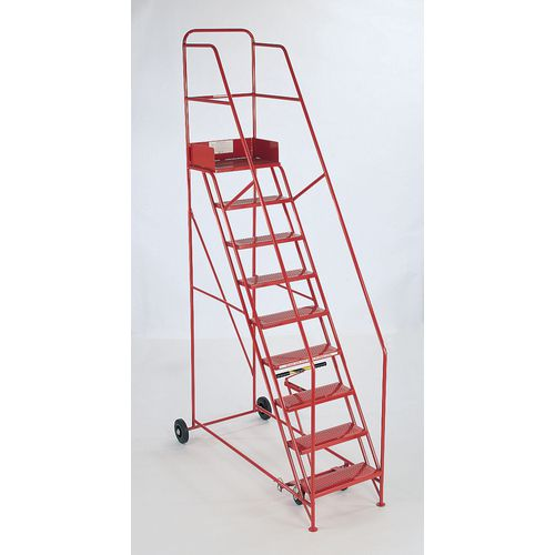 Steps Mobile Knock-Down 15 Treads Colour Red