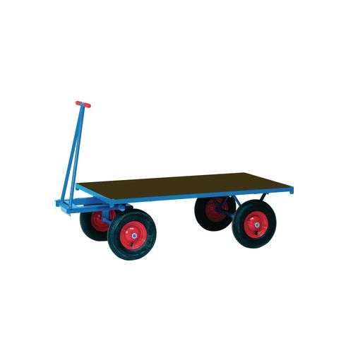 Truck Turntable 1200x800mm Pneumatic Tyres Flat Platform 1000Kg Capacity