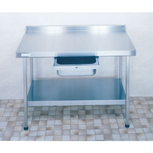 Stainless Steel Preparation Table with Upstand  Wall Table HxWxL 900x650x1800mm