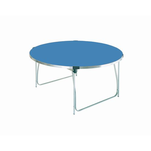 Table Folding Round H:760mm Blue