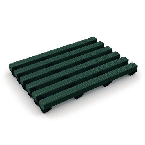 Matting Pvc Leisure Safety Heronrib 2000 (50Cms) Green