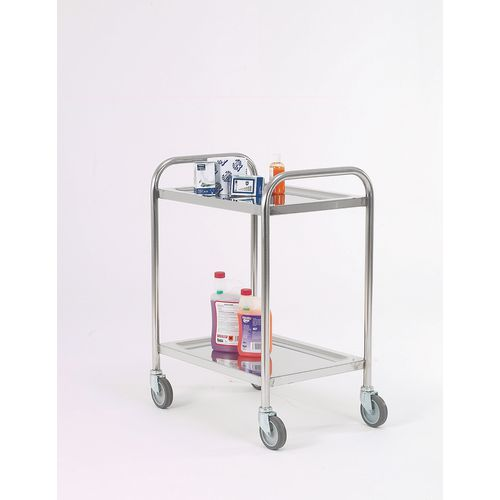 Trolley Pressed Shelf Overall LxWxH: 900x510x900mm 2 Shelves