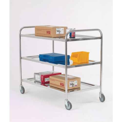 Trolley Pressed Shelf Overall LxWxH: 1090x630x1000mm 3 Shelves