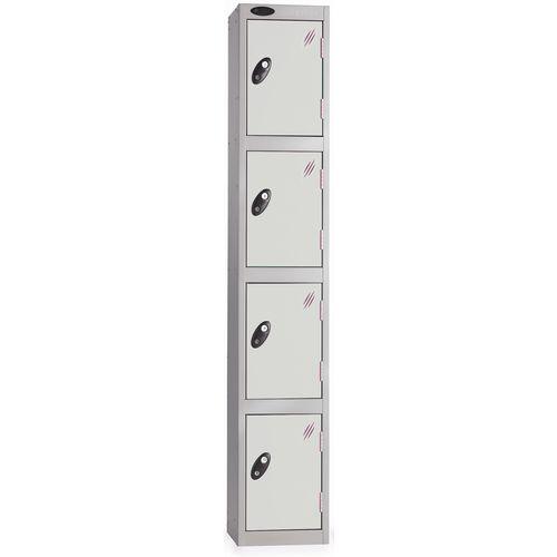 Locker Silver &White 4 Door 1780x305x305mm