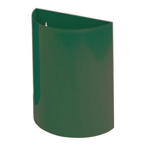 Wall Bin With Liner Green X 2 Hxwxd 475X395X190