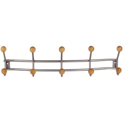 Coat Hooks Economy 10 Hooks Length: 580mm Aluminium