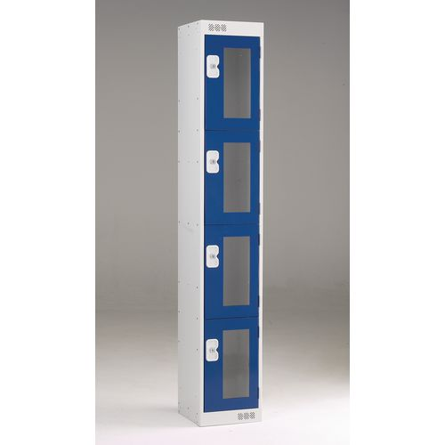 Vision Panel Door Locker 4 Door Small Blue Door
