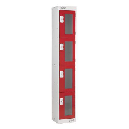 Vision Panel Door Locker 4 Door Small Red Door